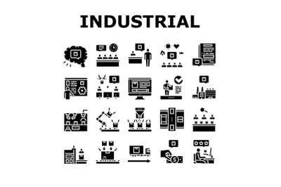 Industrial Process Collection Icons Set Vector
