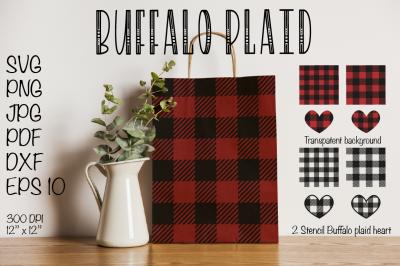 Buffalo Plaid SVG, Buffalo Plaid Heart SVG Valentines SVG Buffalo Plai