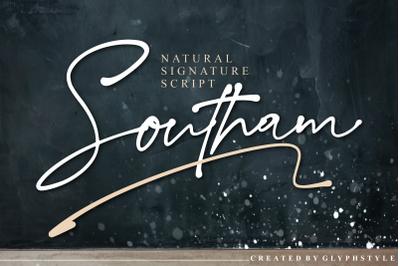 Southam Natural Signature Script