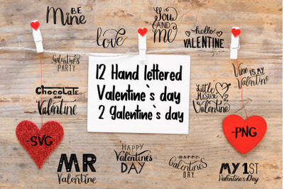 Hand lettered Valentines day