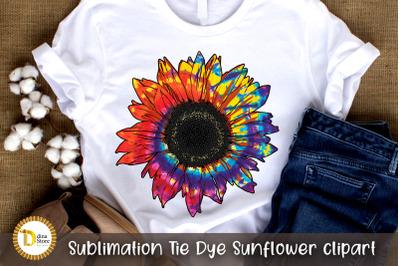 Sublimation Tie Dye Sunflower clipart