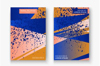 Creative cover frame design paint explosion splatter vector illustrati
