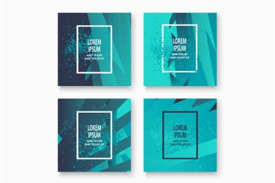Creative cover frame design paint explosion platter vector illustratio