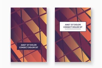 Creative cover frame design vector illustration. Neon blurred gradient
