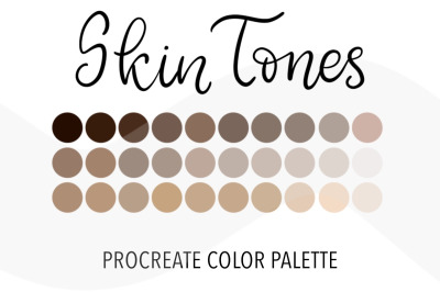 Skin Tones color palette for Procreate. 30Color Swatchesfor iPad di