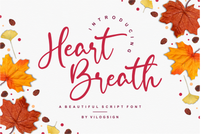 Heart Breath a Beautiful Script Font