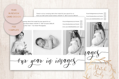 PSD Year In Review Card Template #6