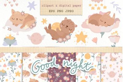 Sleeping animals. Good night.