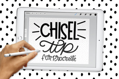 Wide Chisel Procreate Calligraphy Brush