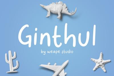 Ginthul - Fun and Playful Font