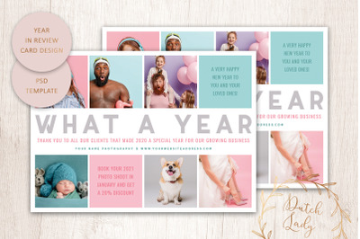 PSD Year In Review Card Template #7
