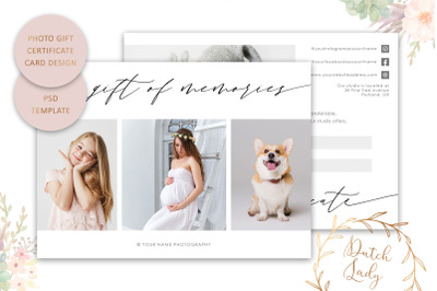 PSD Photo Gift Card Template #56