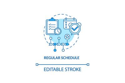 Regular schedule concept icon