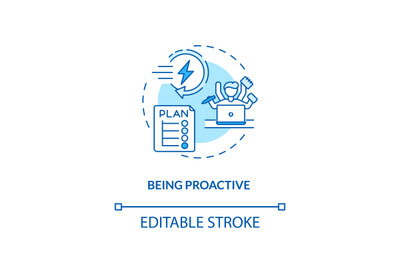 Being proactive concept icon