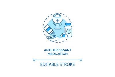 Antidepressant medication concept icon