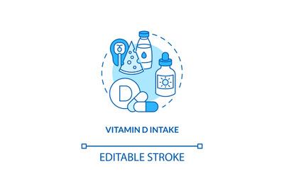 Vitamin D intake concept icon