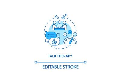 Talk therapy concept icon
