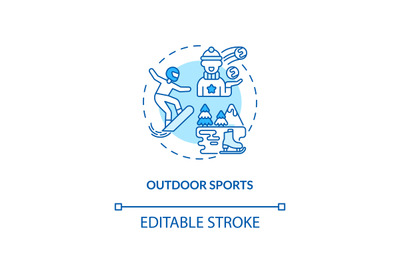 Outdoor sports concept icon