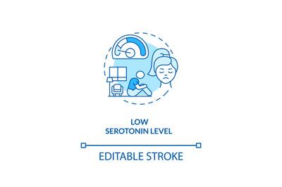 Low serotonin level concept icon