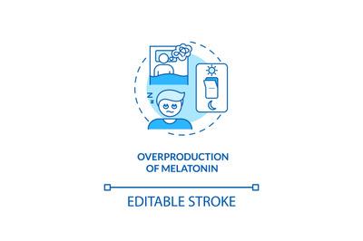 Melatonin overproduction concept icon