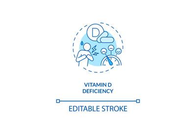 Vitamin D deficiency concept icon