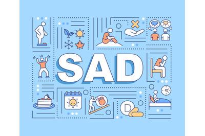Sad word concepts banner