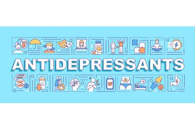 Antidepressants concepts banner