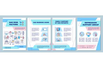 Sad risk factors brochure template