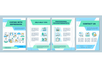 Coping with depression brochure template