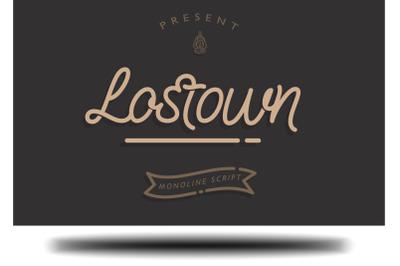 Lostown Monoline Script
