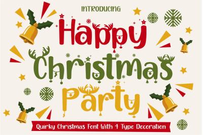 Happy Christmas Party - Xmas Font