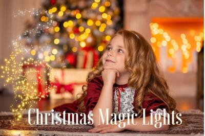 Christmas magic lights overlay