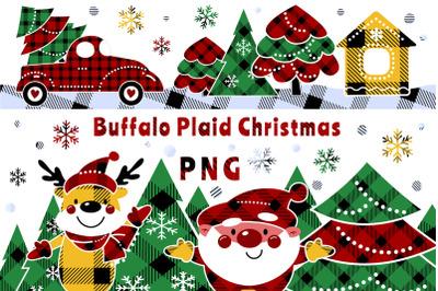 Buffalo plaid christmas PNG 24