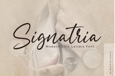 Signatria a Chic Letter Font