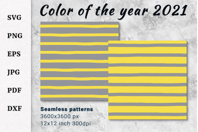 Color of the year 2021 paper. Ultimate Gray, Illuminating