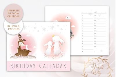 Printable Birthday Calendar #5