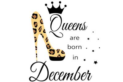 December birthday Queen  svg, Living My Best Life, December  Queen,Dec