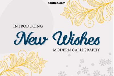 New Wishes Modern Script
