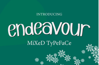 Endeavour Mixed Typeface