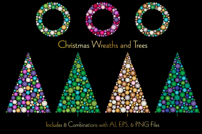 Christmas Ornament Wreaths and Trees