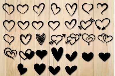 Heart Svg Bundle, Hearts Svg, Valentine Days Svg,Heart Icon