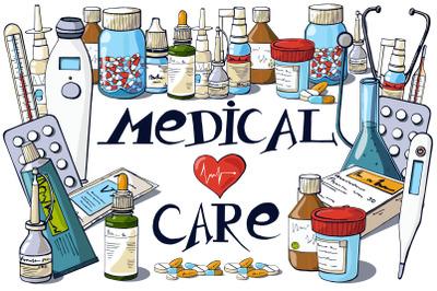 Medical Clip Art And Inscriptions