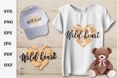 Cheetah Wild Heart | Cheetah Print Valentine's Day SVG