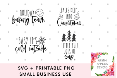 Christmas Bundle Ornament 2020 SVG DXF EPS PNG Cut File  Cricut