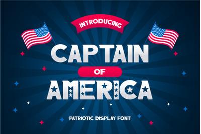 Captain of America Patriotic Display Font