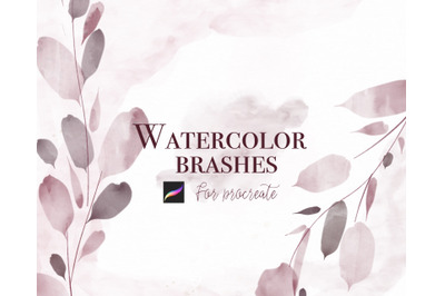Watercolor set for Procreate Brush