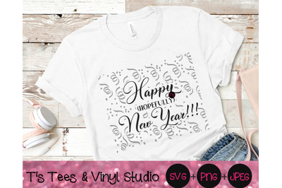 Happy Hopefully New Year, New Year Svg, Happy New Year, New Year's, I