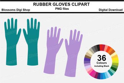 Rubber Gloves Sticker Clipart, 36 files, multi colours