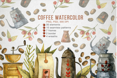 Coffee Illustrations Watercolor