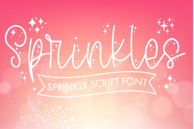 Sprinkles - Script Font With Doodles